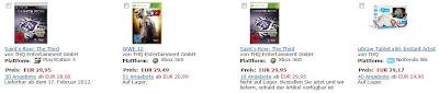 2für1-Aktion bei Amazon mit ganz guten Spielen für PS3, Xbox 360, Nintendo DS, Wii und PC