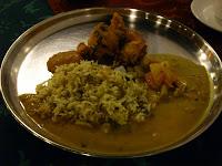 biryani rice potatoes chutney