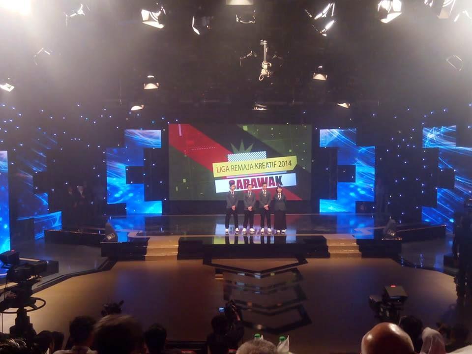 Pasukan Sarawak semasa majlis Liga Remaja Kreatif 2014 Peringkat Kebangsaan