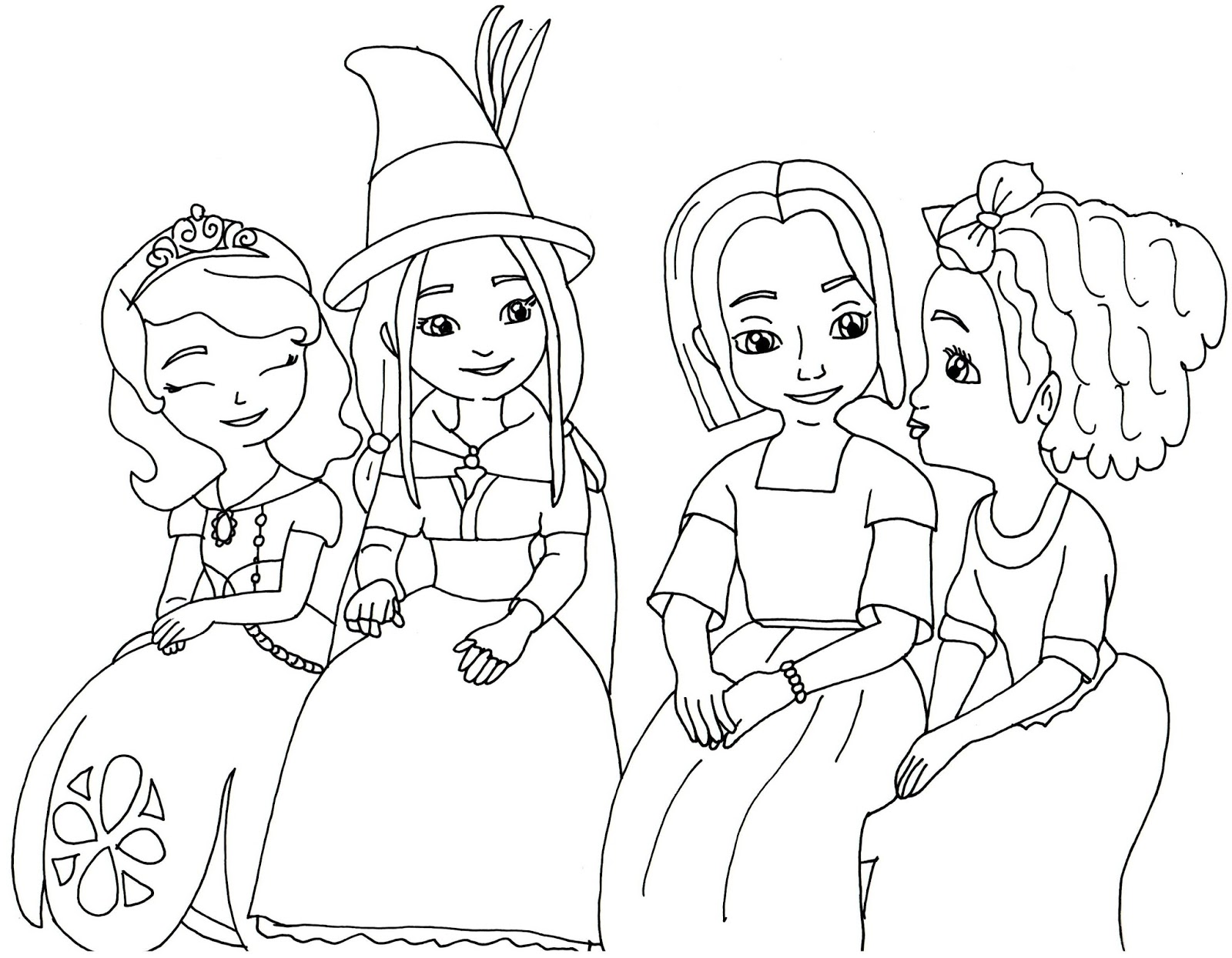 Sofia The First Coloring Pages: The Little Witch - Sofia The First ...