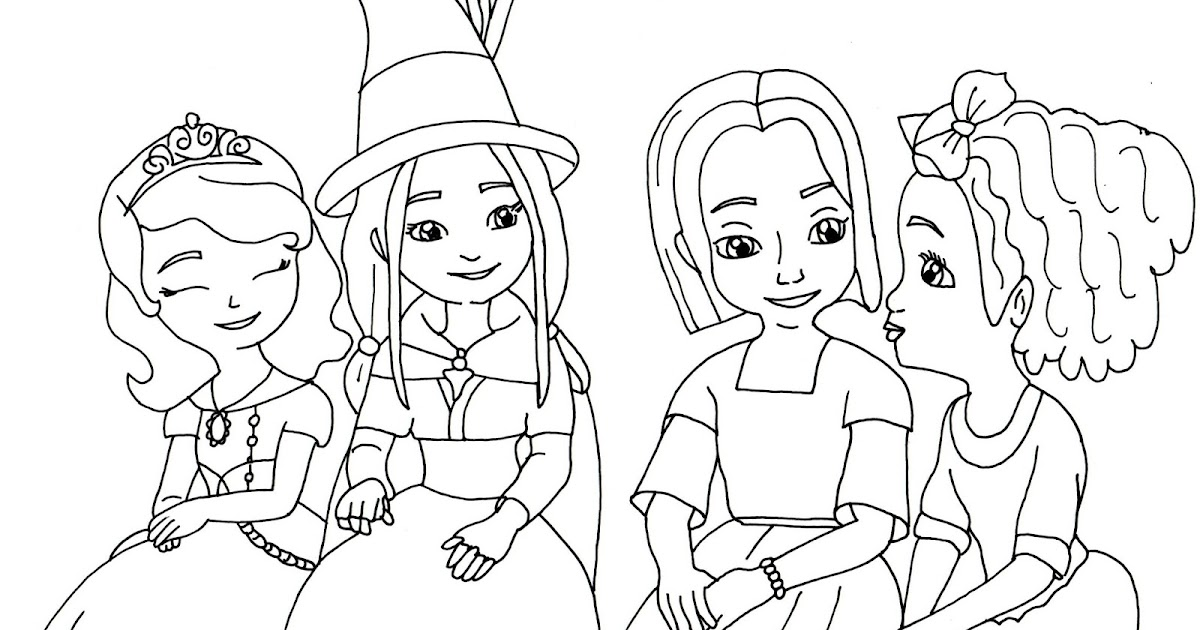 Sofia The First Coloring Pages The Little Witch Sofia