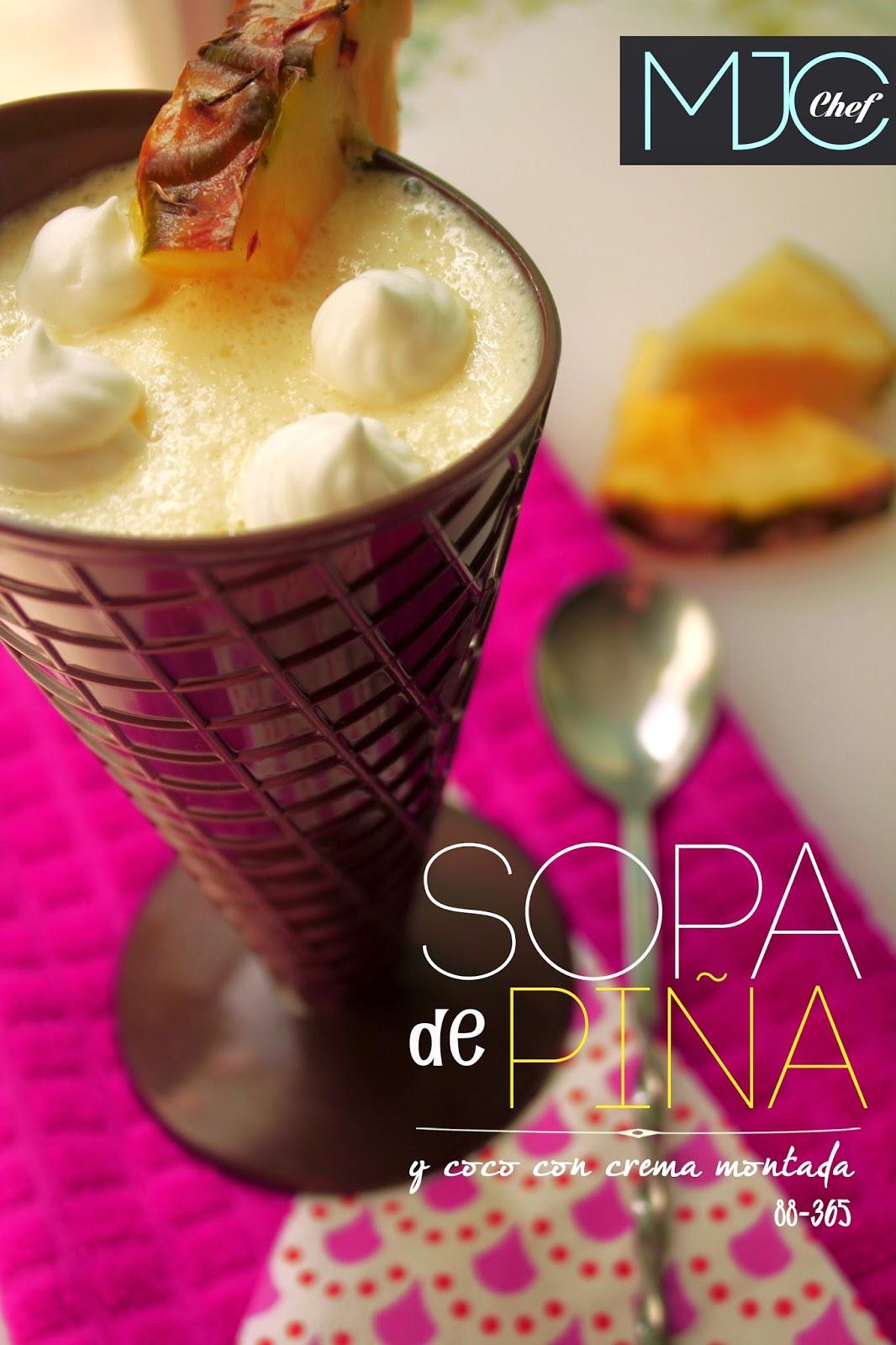 Sopa de piña