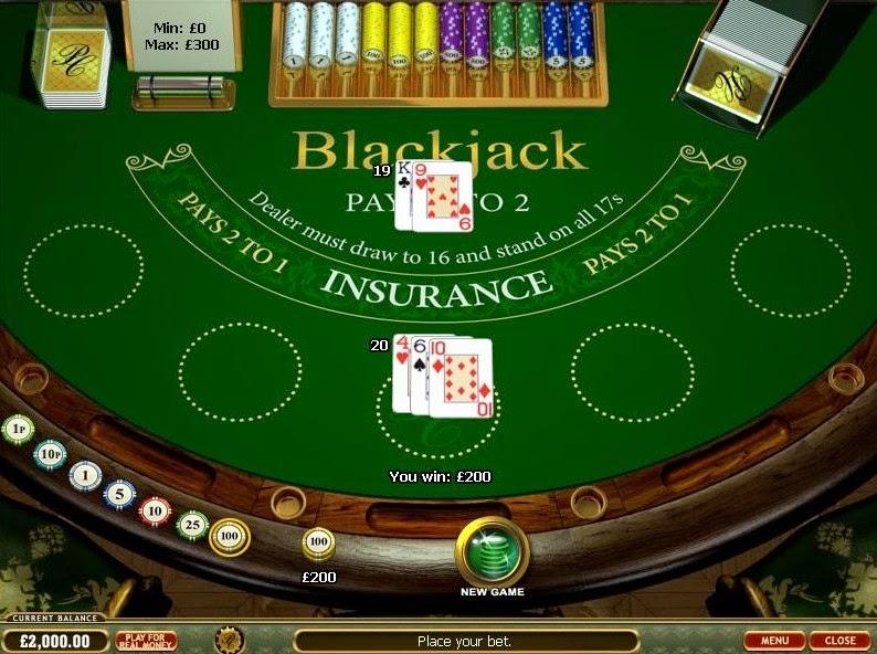 Prestige Casino Blackjack Screen