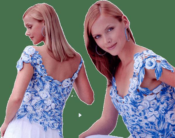 голубой топ в стиле фриформ