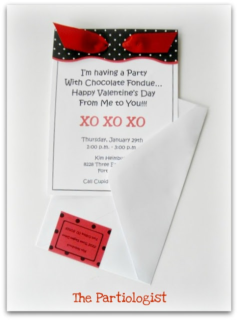 The Partiologist Valentine Fondue Party Part I – Fondue Party Invitations