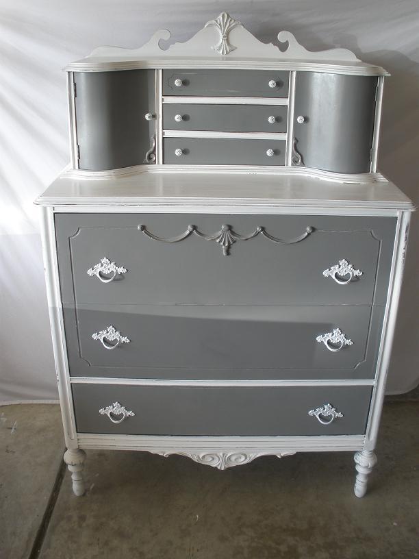 Lila S Pockets Vintage Grey Amp White Dresser