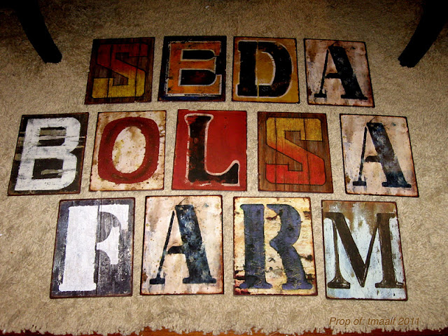 Two Men and a Little Farm: HOBBY LOBBY METAL SIGN LETTERS