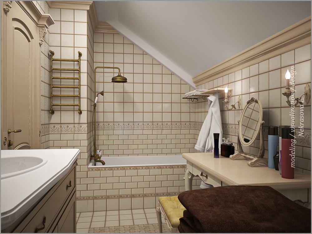 Ванная на мансарде дизайн