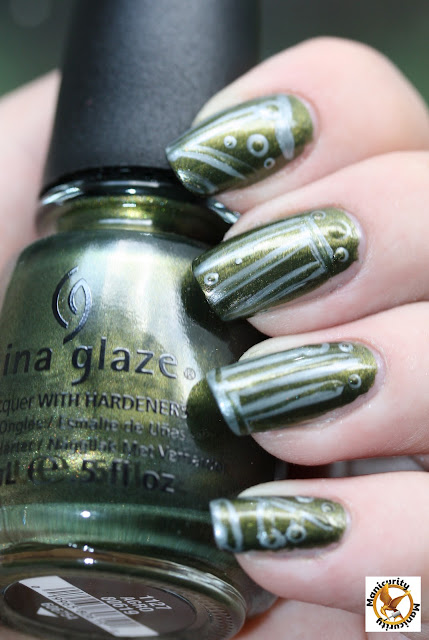 Hunger Games Nails - District Three: Technology featuring China Glaze Agro
