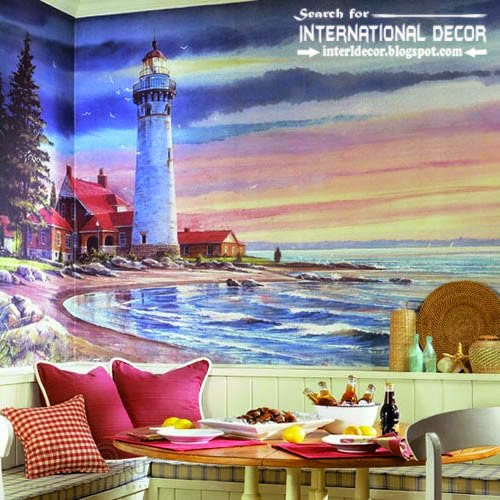 wall murals wallpaper, wall covering ideas, natural wall mural