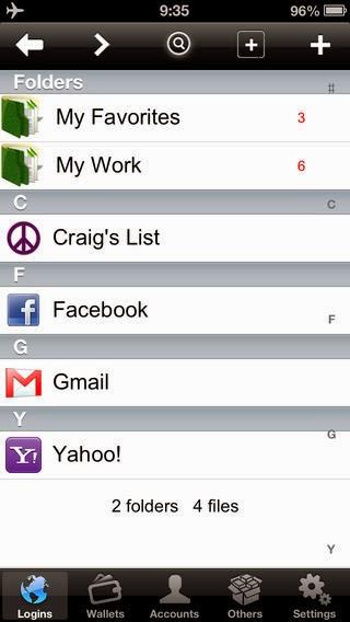 تطبيق مجاني لتشفير الملفات والبيانات والتطبيقات بكلمة سر للأيفون والأيباد والأيبود تاتش Password Manager Free - Secure