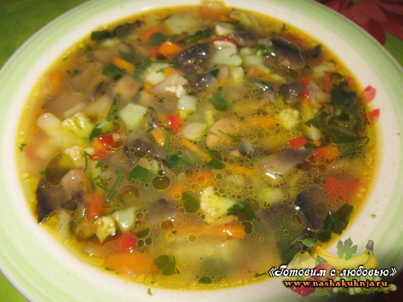 суп из шампиньонов рецепт без жарки