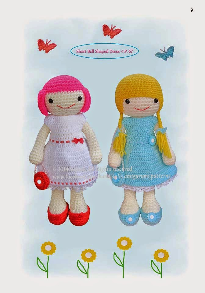 Amigurumi Dress Up Dolls : The Dress Up Dolls Crochet Pattern Book is out :) - Sayjai ...