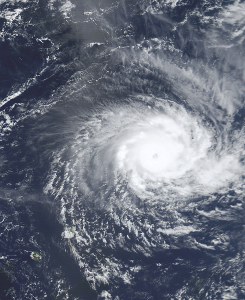 Image satellite du cyclone tropical très intense Hudah