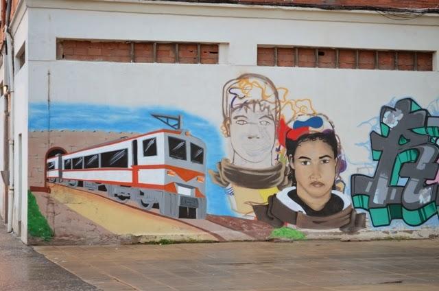 disfrutandodelosencillo grafitti la guerra de las galaxias, Burgos