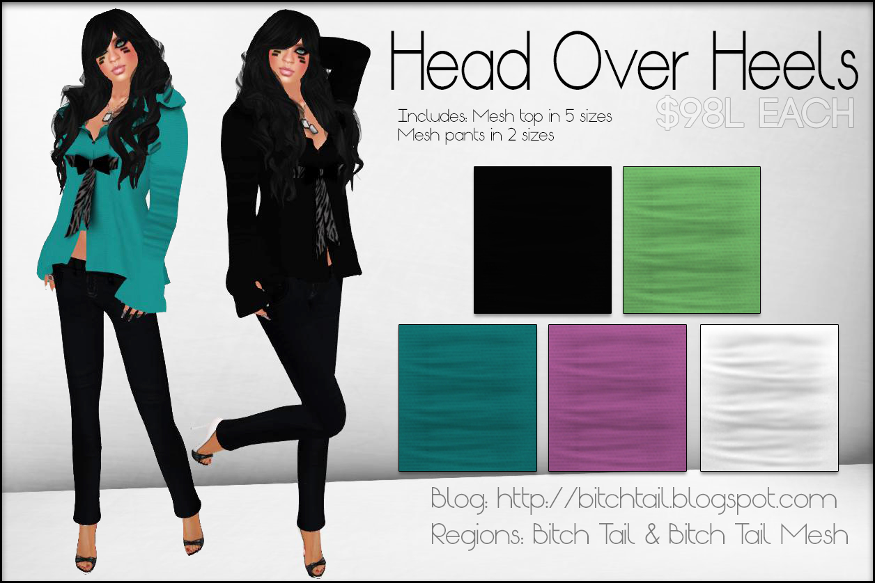 bitch tail head over heels. Black Bedroom Furniture Sets. Home Design Ideas