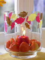 Аранжирана есенна свещ