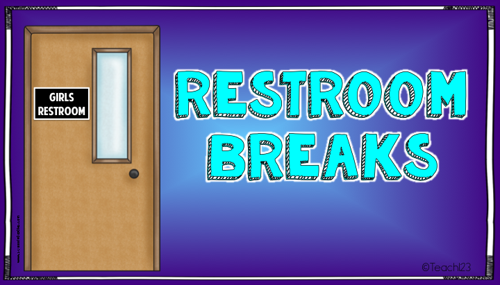 School Bathroom Break Sign Restroom Symbol Clipart Best Funny