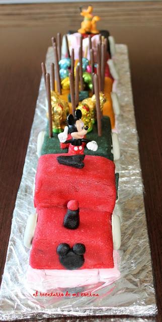 Tarta tren de Mickey de Ander