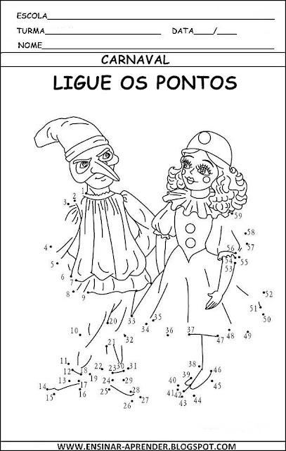 ATIVIDADES CARNAVAL 2013. LIGAR PONTOS