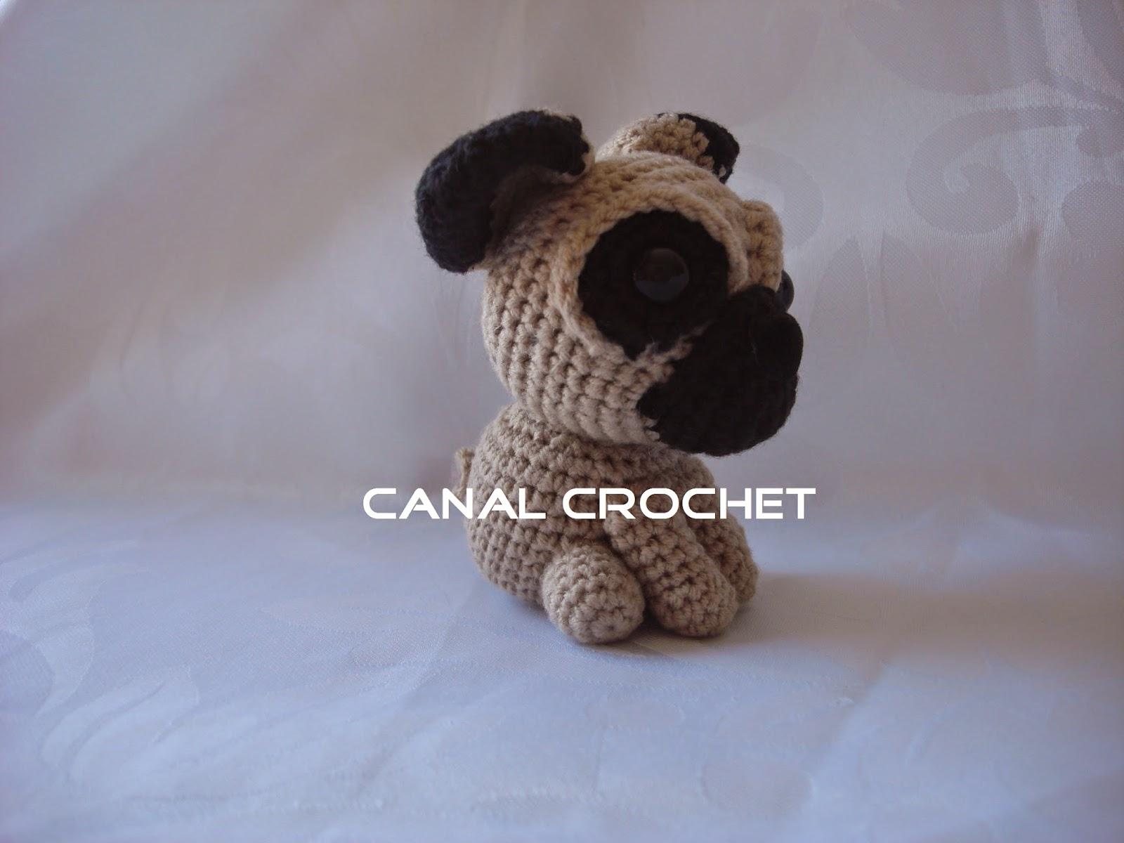 CANAL CROCHET: Perro pug amigurumi patron libre: