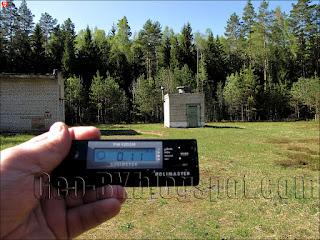 Измерение радиации около водозаборного сооружения