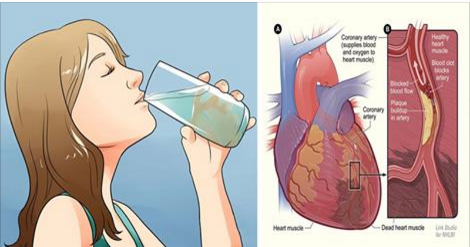 Eau comme la médecine: Buvez l'eau potable sur estomac vide
