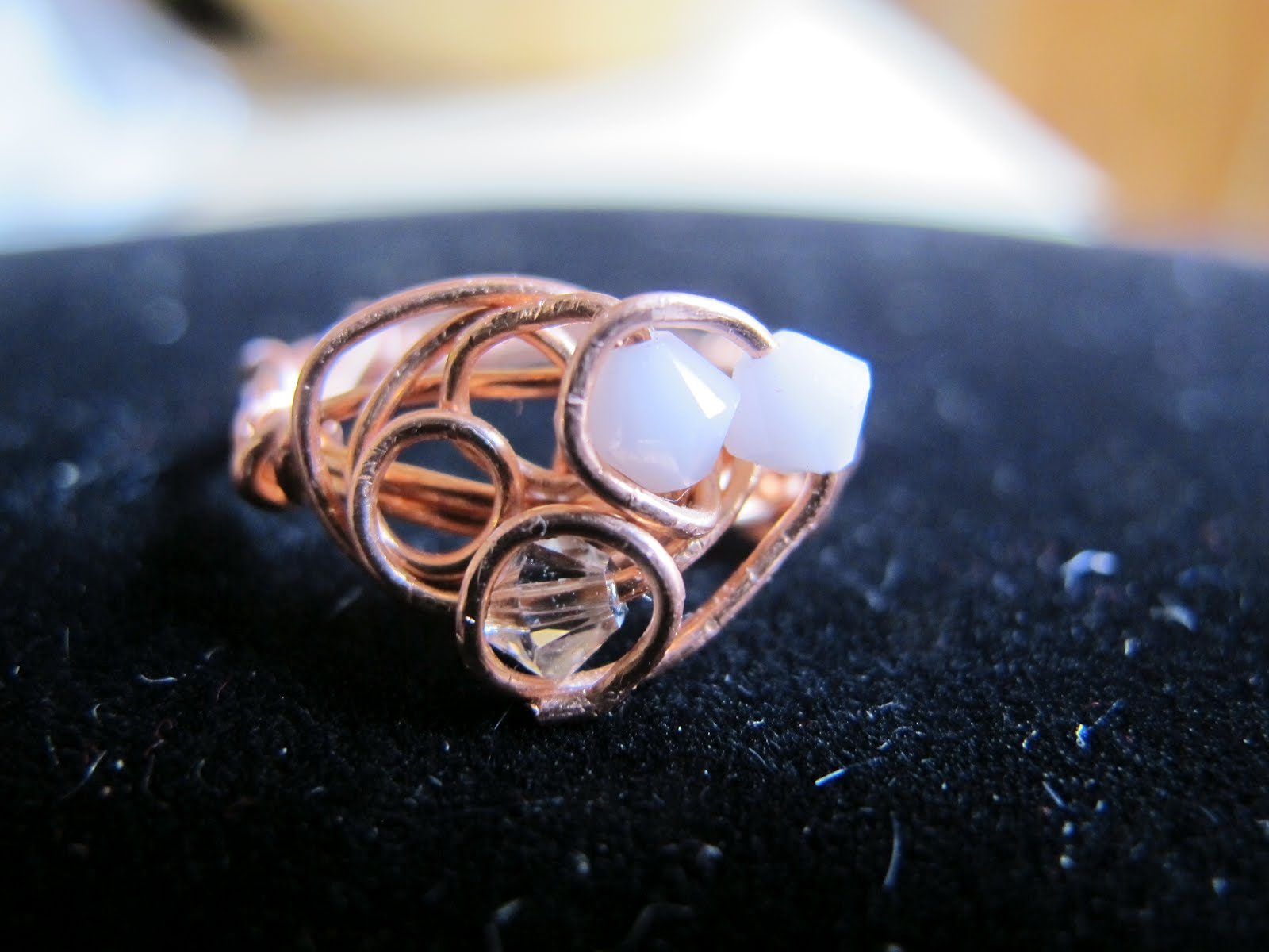 Naomi\'s Designs: Handmade Wire Jewelry: Copper wire wrapped rings ...