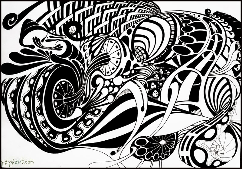 Famous Abstract Line Art : Abstract art drawing in black and white crafts arts