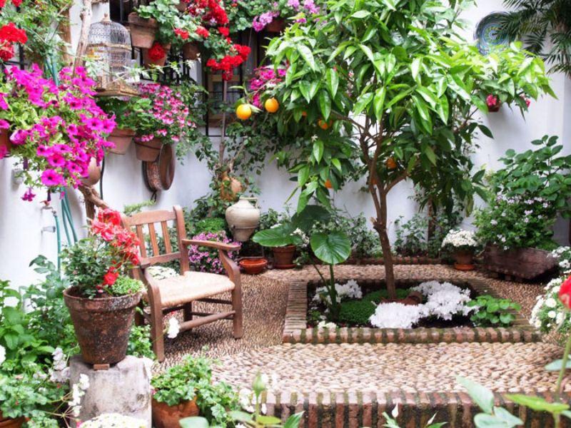 El arte de saber los patios de c rdoba for Murales para patios y jardines