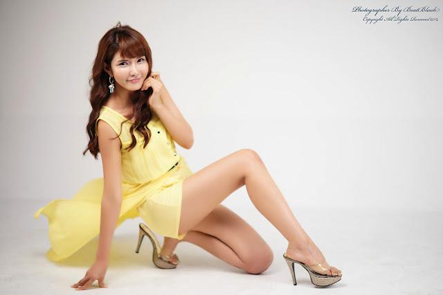 3 Cha Sun Hwa in Yellow-Very cute asian girl - girlcute4u.blogspot.com
