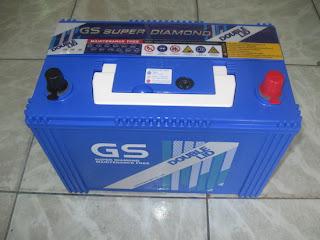 แบตเตอรี่ แห้ง gs 105d31l-dl double-lid