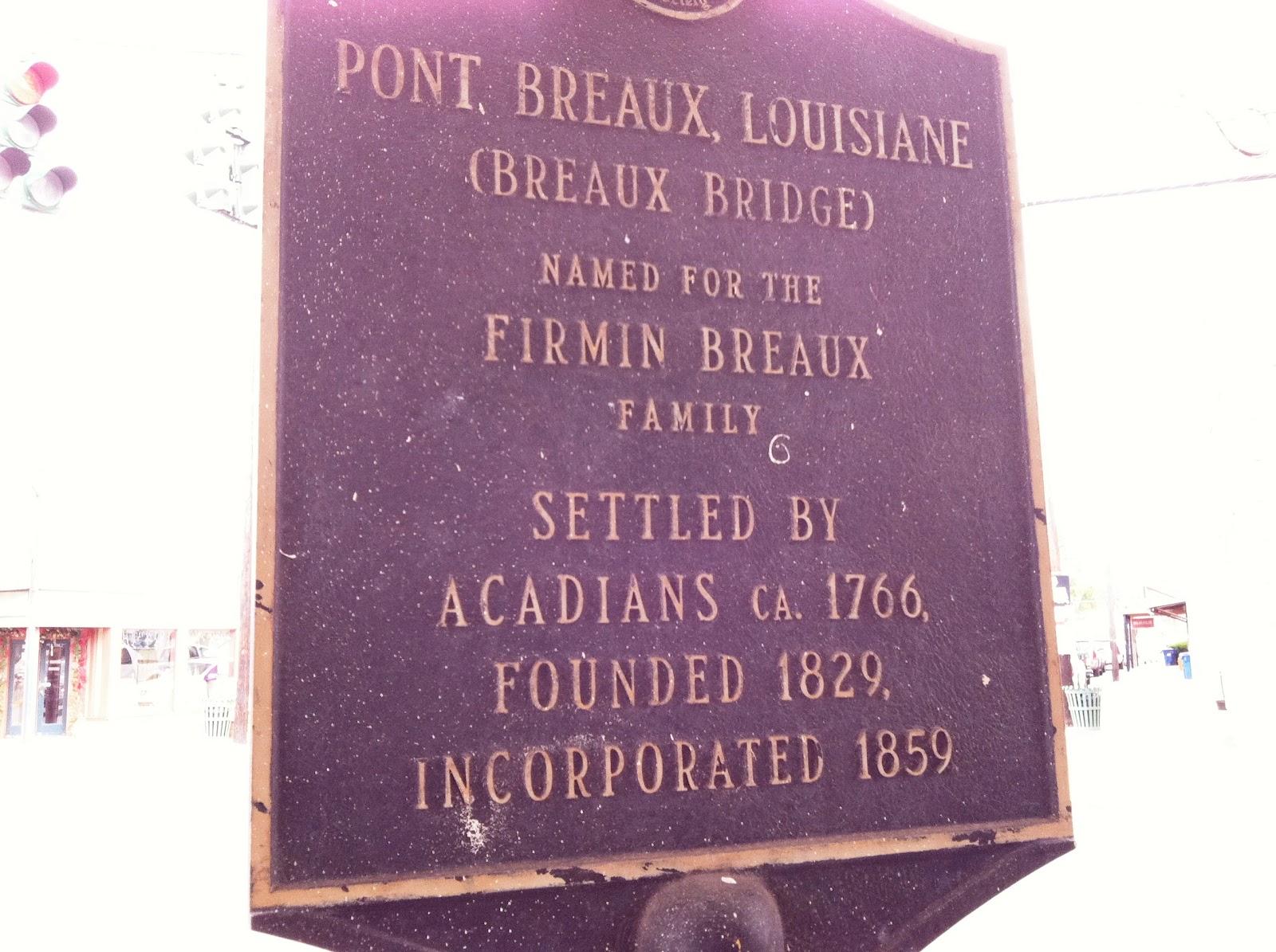 history of breaux bridge la