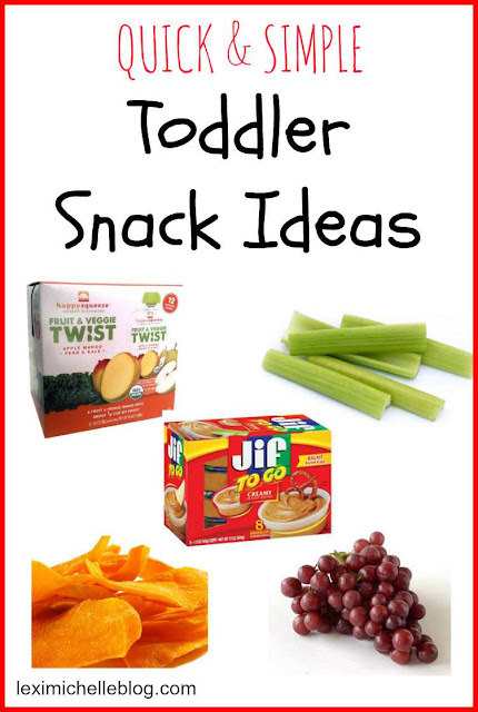 toddler snack ideas that are so quick & easy & perfect for on the go
