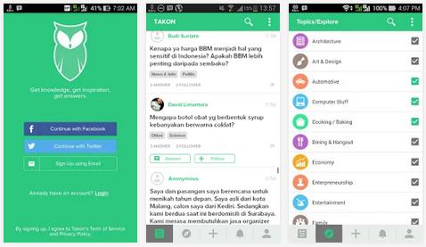 Takon, Aplikasi Tanya Jawab dan Sosial Media Dari Indonesia