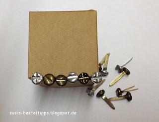 diy schrauben brads kreuzschlitz mit embossingpulver für Stampin Up geburtstagskarten für Männer