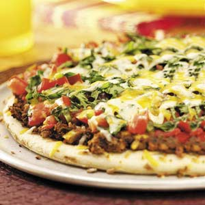 Pams Party & Practical Tips: Loaded Mexican Pizza