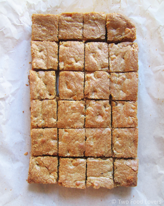 Cut Butterbeer Blondies