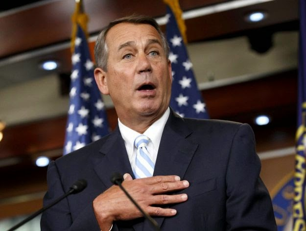 Speaker Boehner with a surprised Look on His face