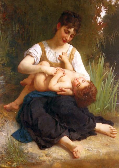 cute girl,genre painting,William Adolphe Bouguereau