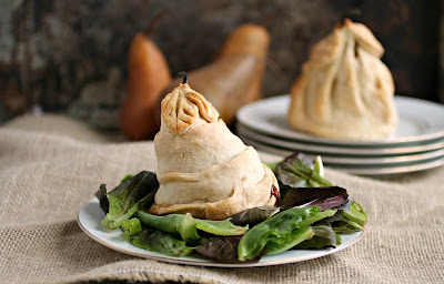 Pastry Wrapped Baked Pears with Gorgonzola