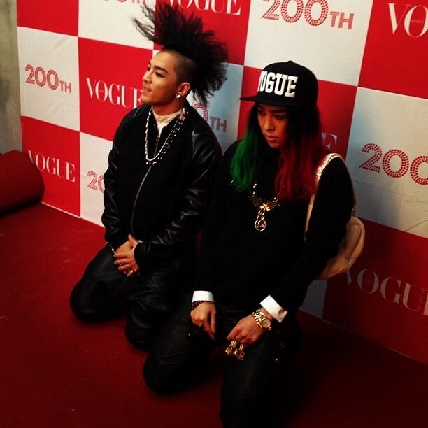 G-dragon and Taeyang Instagram for Vogue Korea's March issue