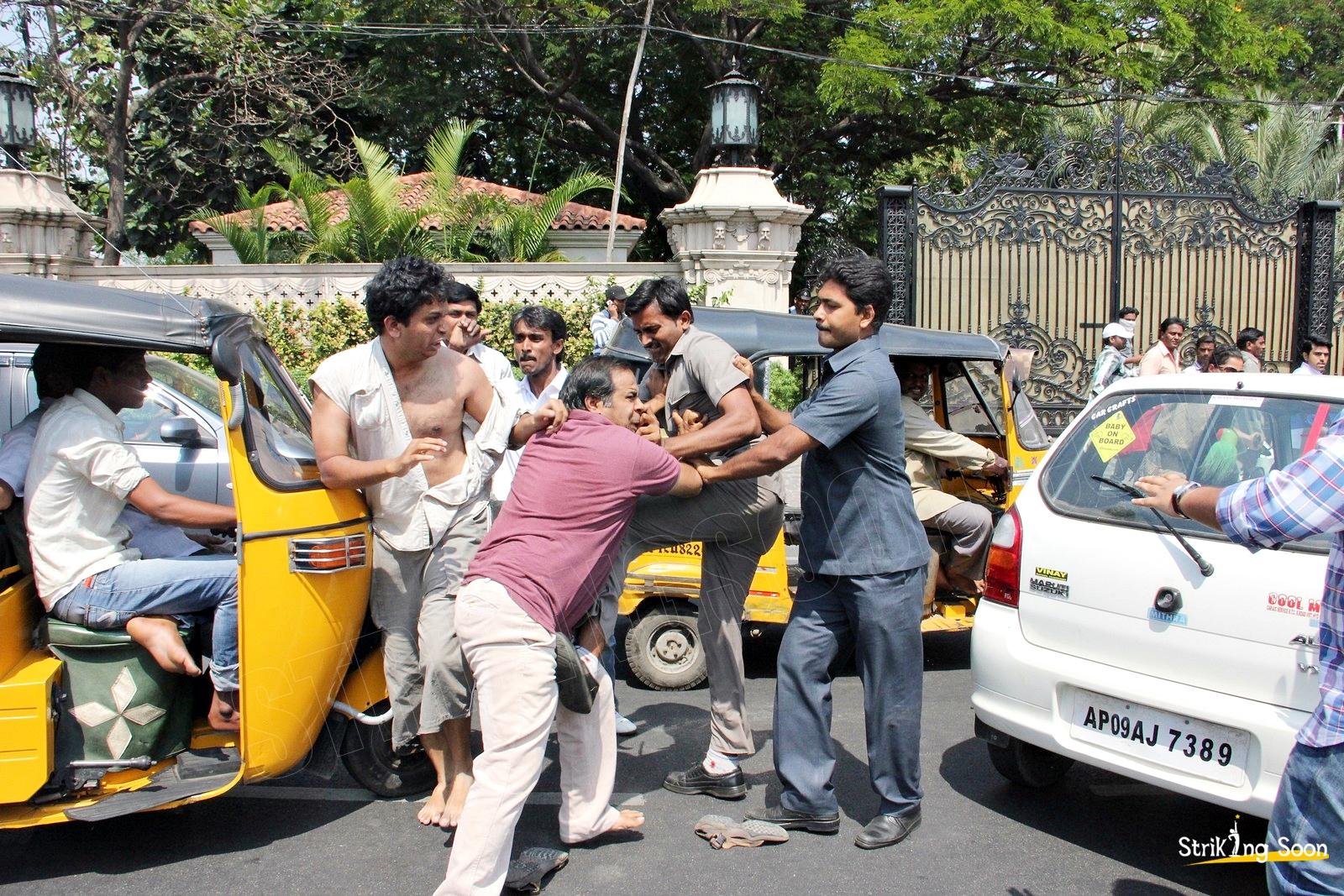 Ram Charan Guards Attack On Car Driver Strikingsoon Com