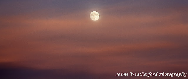 Moonrise Awbrey Butte Bend oregon Fall sunset Jaime Weatherford