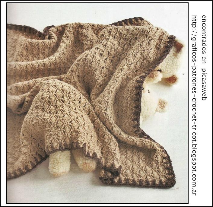 Tejidos a crochet ganchillo patrones mantilla - Mantas de bebe hechas a ganchillo ...