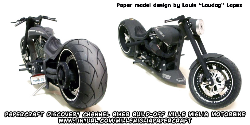 download build your own papercraft discovery channel biker build off