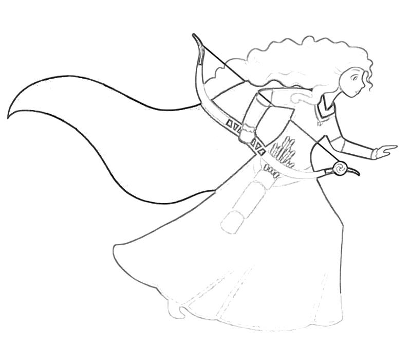 Printable Disney Pixar Brave Merida Face Coloring Pages title=