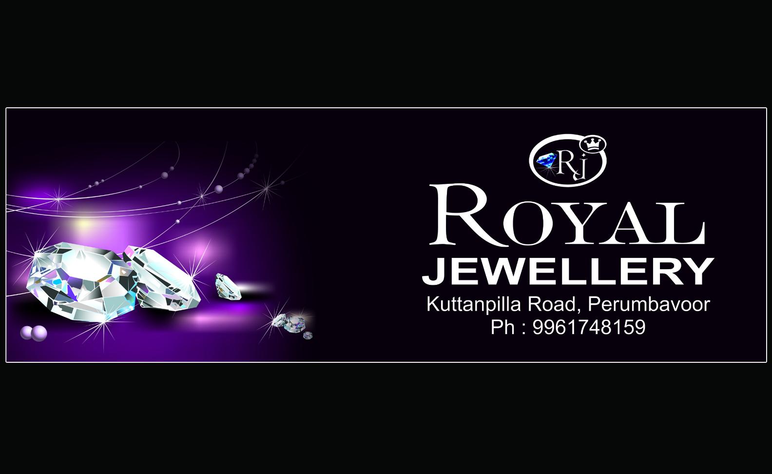 Banner design for jewellery - Royal Jewellery Perumbavoor 6x2 Banner