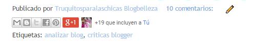 ETIQUETAS BLOGGER