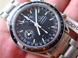 OMEGA SPEEDMASTER CHRONOGRAPH BLACK DIAL - POINTER DATE-24 HOURS INDICATOR-DAY AND MONTH-AUTOMATIC